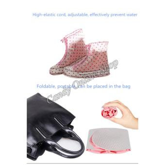 Candy Online Waterproof Non-slip rain shoe covers (Pink) - 5