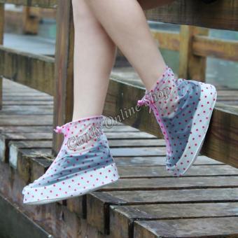 Candy Online Waterproof Non-slip rain shoe covers (Pink) - 3