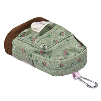 Canvas Mini Floral Backpack Women Girls Kids Cheap Coin Pouch Green - Intl - picture 2