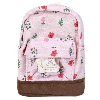 Canvas Mini Floral Backpack Women Girls Kids Cheap Coin Pouch Multicolor - Intl