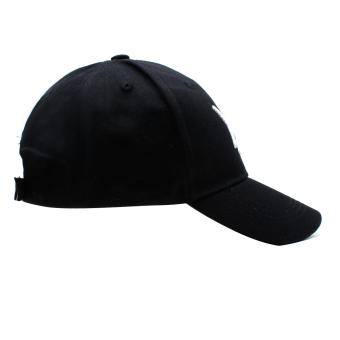Cap City Fashion Plain Criss Cross Baseball Cap (Black) - 3