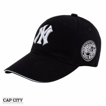 Cap City NY New York Embroidery Casual Baseball Cap (Black)