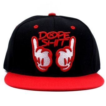Cap City Unisex Hip-hop Snapback Dope Baseball Cap (Red)