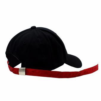 Cap City Unisex Korean Style NY New York Long Clip Strap Adjustment Basball Cap (Black) - 4