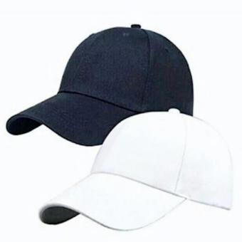 Cap Republic Plain baseball cap (black & white) set Price Philippines