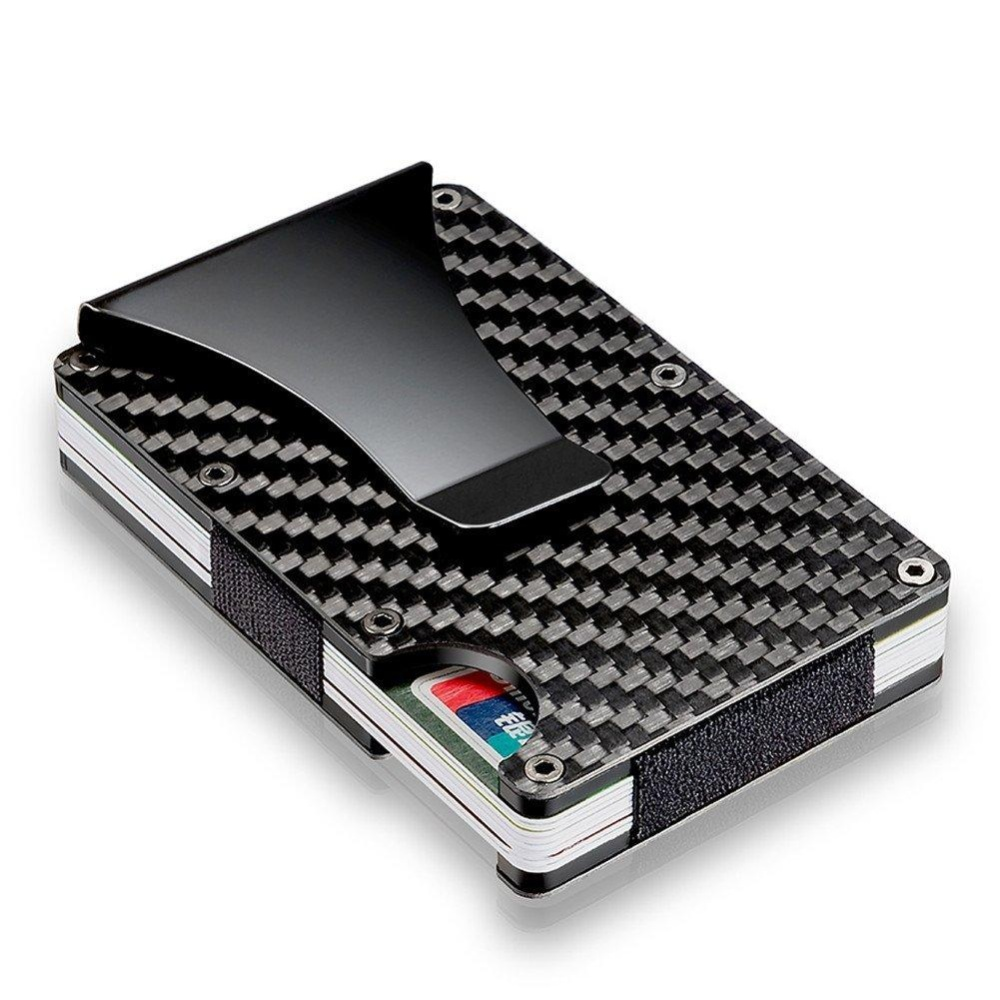 Carbon Fiber Money Clip, RFID Blocking Wallet, Slim Design Credit ...