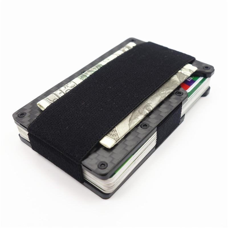 Carbon Fiber Slim Aluminium Credit Business Card Holder NFC Anti ...