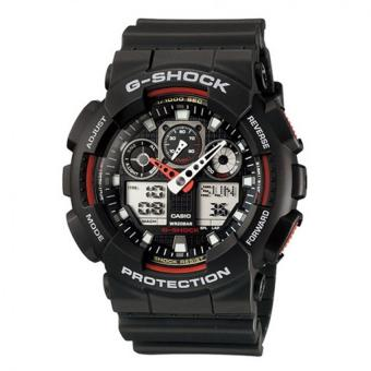 Casio G-Shock Men's Black Resin Strap Watch GA-100-1A4