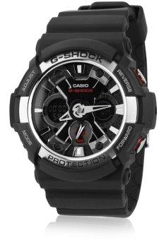 Casio G-Shock Men's Black Resin Strap Watch GA-200-1ADR