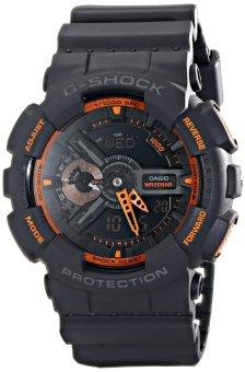 Casio G-Shock Men's Resin Black Strap Watch GA110TS-1A4