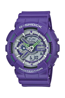 Casio G-Shock Men's Violet Resin Strap Watch GA-110DN-6A