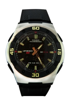 Casio Men's Black Rubber Strap Watch AQ-164W-1AVDF Price Philippines