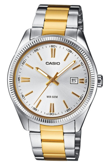 CASIO Men's Stainless Steel Strap Watch MTP-1302SG-7AVDF