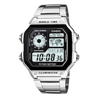 CASIO Men's Watch AE-1200WHD-1A (Silver)