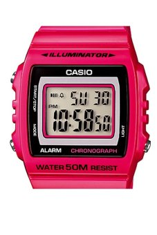 Casio Unisex Pink Resin Band Watch W-215H-4AVDF - picture 2