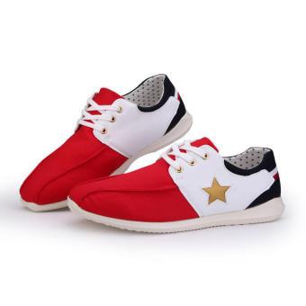 Casual Fashion Pentagram Sport Men Sneakers (Red)