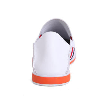Casual Leather Driving Loafers - White - picture 3