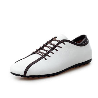 Casual Leather Lace-Ups Shoes -White