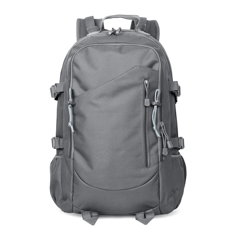 Casual men and women large capacity travel backpack (Grey)