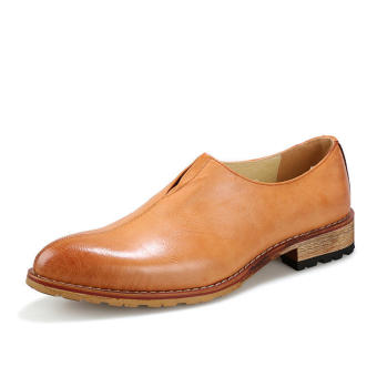 Casual Men Business Shoes - Yellow - picture 2