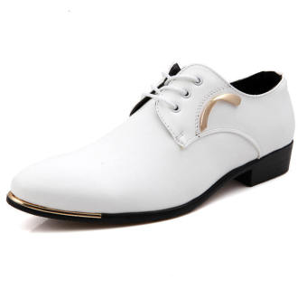 Casual Men Formal Business Shoes - White