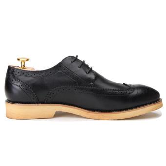 Casual Men Oxfords Formal Shoes - Black - 4