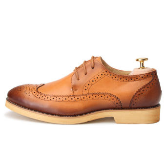 Casual Men Oxfords Formal Shoes - Brown - picture 2