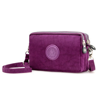 Casual nylon cross-body women's bag women's wallet (Purple)