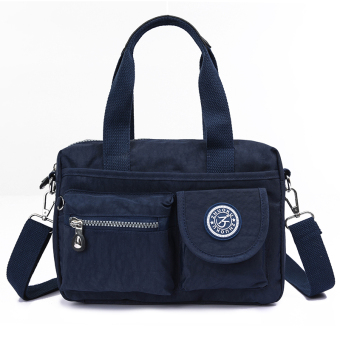Casual nylon shoulder cross-body women's bag cloth bag (Dark blue color)