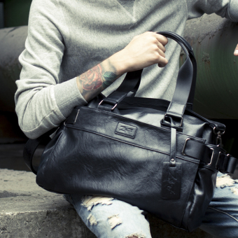 Casual soft leather New style men's bag shoulder bag