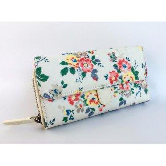 Cath King Fashion PVC Waterproof Printed Flower Multi-functionWallet Purse For Women Ladies Girls- Flowers - intl - 2
