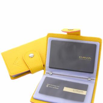 Cava C17JL789YE Business ID Credit Card Holder (Yellow)