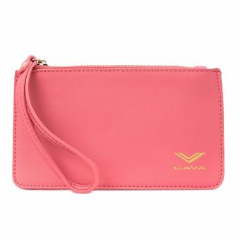 Cava C17MR747PI Saffiano Slim Wallet Wristlet (Coral) Price Philippines