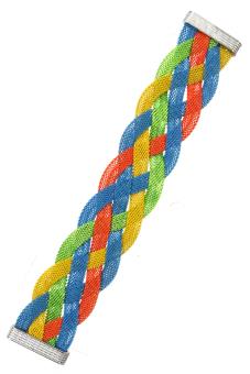 Charm Braided Bracelet (Blue, Yellow, Orange, Green) - picture 2