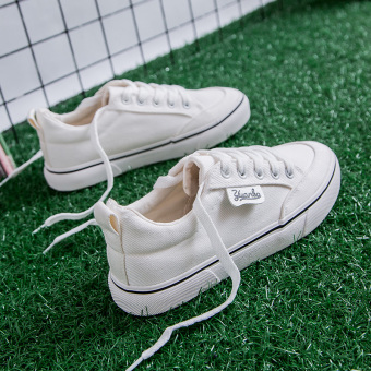 Chic Han Banfeng super fire shoes canvas shoes (White)