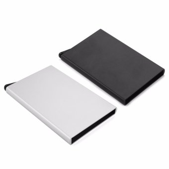 CHIC Slim Credit Card RFID Protector Purse Metal Case Wallet SecureMen & Women Black - intl - 4