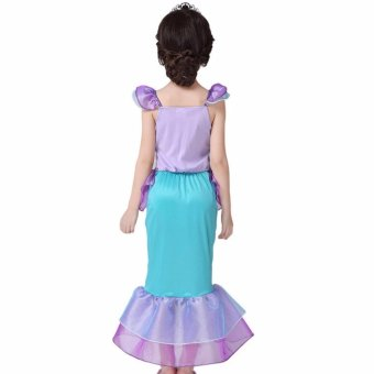 Children Baby Girl Clothes Little Mermaid Fancy Kids Girls Mermaid Dresses Princess Ariel Cosplay Halloween Costume mermaid-tail - intl - 2