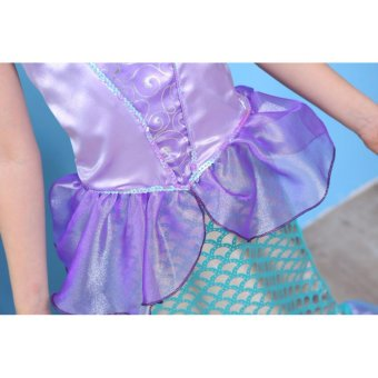 Children Baby Girl Clothes Little Mermaid Fancy Kids Girls Mermaid Dresses Princess Ariel Cosplay Halloween Costume mermaid-tail - intl - 4
