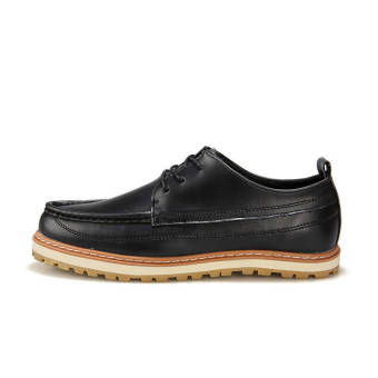 Classic Men Leather Lace-Ups Shoes-Black - picture 2