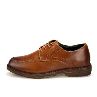 Classic Men Leather Lace-Ups Shoes Brown - picture 2