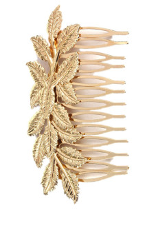 Clip Golden Leaf Hair Comb Hair (Gold)