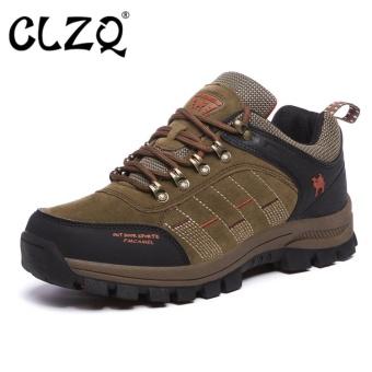 CLZQ 2017 New Men and Women Outdoor Hiking Shoes WaterproofAnti-skid Wear-resistant Climbing Sports Outdoor Footwear-Khaki -intl - 2