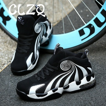 CLZQ Men Basketball Shoes 2017 Male Ankle Boots Anti-slip OutdoorSport Sneakers Black - intl - 4