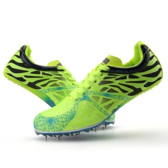 CLZQ Track Sports Running Shoes Spike Spikes Athletics TrainingShoes-Green - intl - 3