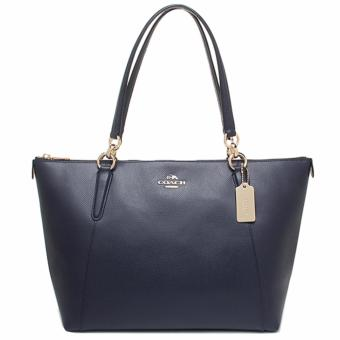 Coach Ava Tote In Crossgrain Leather - Navy Blue