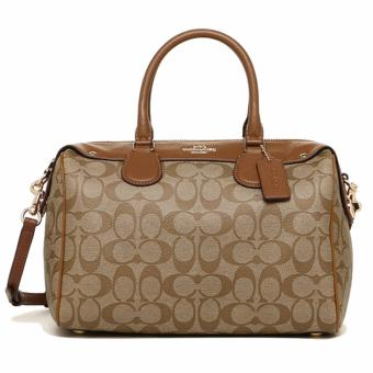 Coach Bennett Satchel in Signature Khaki - F36187