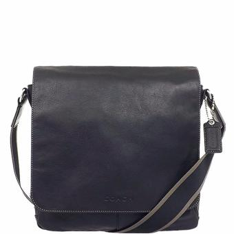 Coach Heritage Web Leather Map Bag - Black