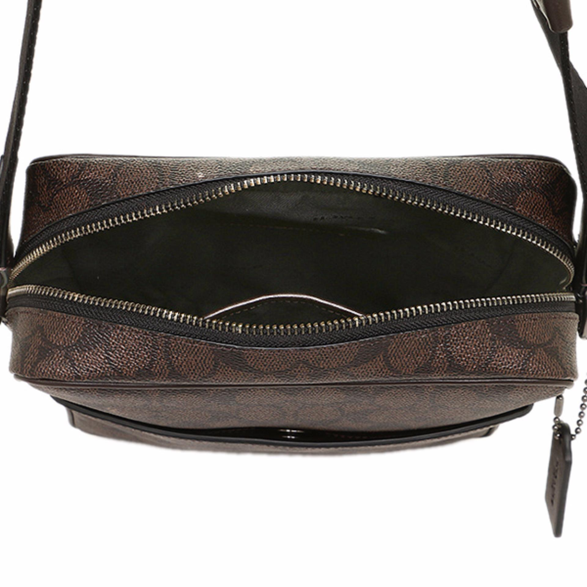 Philippines Coach Metropolitan Flight Bag In Signature Brown Hot