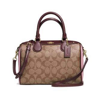 Coach Mini Bennett Satchel in Colorblock Signature Pink - F57495
