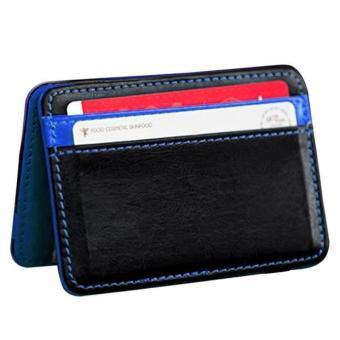 CocolMax Mini Neutral Magic Bifold Leather Wallet Card HolderWallet Purse Money Clip Free Shipping - intl - 2